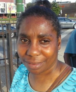 Rene approached us on August 4, 2015 on the corner of Vincenes & 103rd in Chicago. She needed prayer for her back. She also said that she needed a church home.